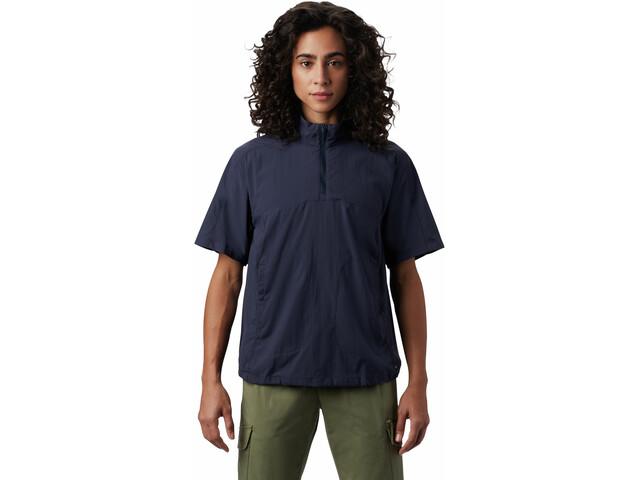 Mountain Hardwear Echo Lake 1/2 Zip Short Sleeve Women dark zinc